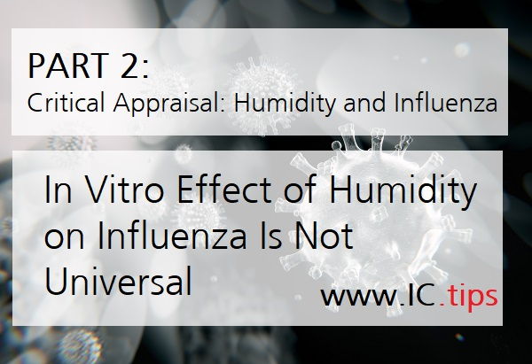 In Vitro Effect of Humidity on Influenza Is Not Universal